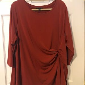 Lane Bryant Maroon top w/side knot
